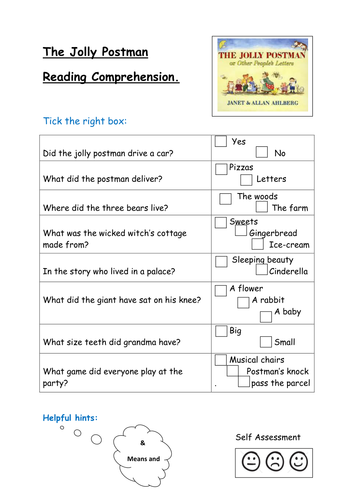 The jolly postman reading comprehension by kayld teaching the jolly postman reading comprehension by kayld teaching resources tes spiritdancerdesigns Images