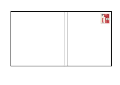 Postcard Template Blank A4 Landscape by Gentleben Teaching – Postcard Format Template