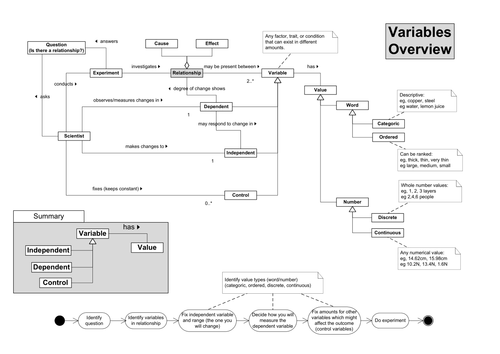 Variables Concept Map by s mawby | Teaching Resources