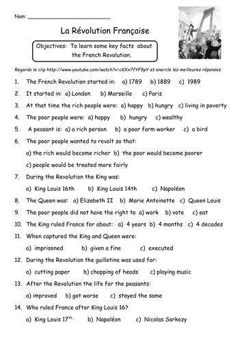 32 The Causes Of The French Revolution 1 Worksheet Answers ...