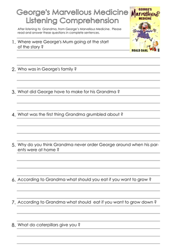 Georges Marvellous Medicine By Njonesford Teaching Resources Tes