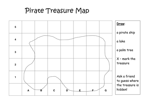 pirate treasure map by etaalpha teaching resources tes. Black Bedroom Furniture Sets. Home Design Ideas
