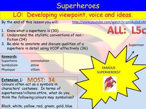 Introduction To Superhero Scheme By Leandri Lotter Teaching