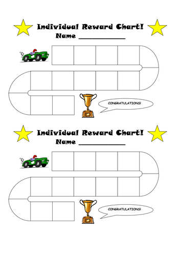 individual reward chart and certificate by kez1985