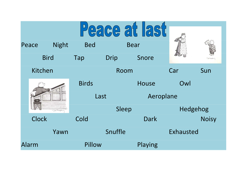 Peace At Last Word Reference Mat
