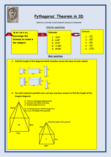 ks4 maths pythagoras in 3d treasure hunt game by uk teaching resources tes. Black Bedroom Furniture Sets. Home Design Ideas