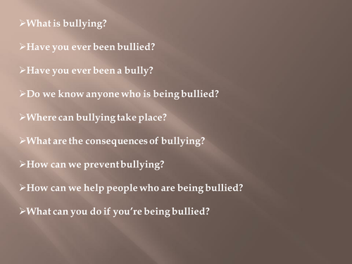 Anti-bullying powerpoint