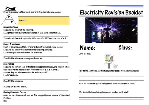 IGCSE Electricity Revision Booklet