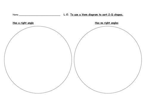 Venn diagram lesson using shapes differentiated by rmcmanus1294 sorting and classifying 2d shapes right angles ccuart Choice Image