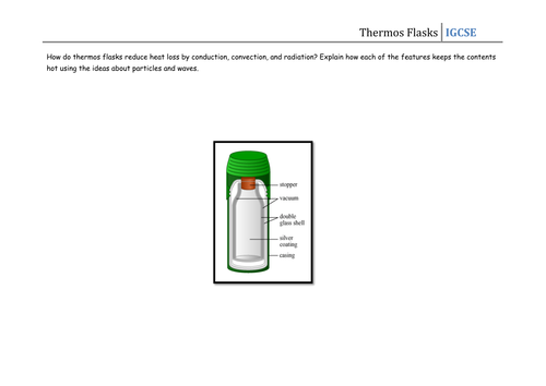 Worksheet - Thermos Flask by CSnewin | Teaching Resources