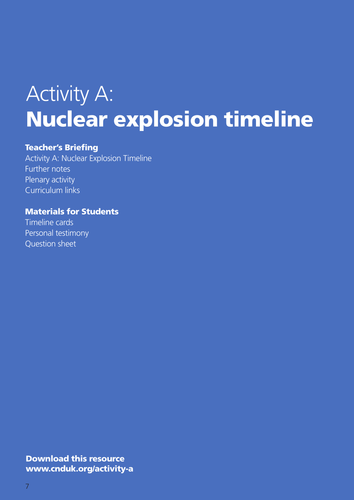 Timeline of a Nuclear Explosion