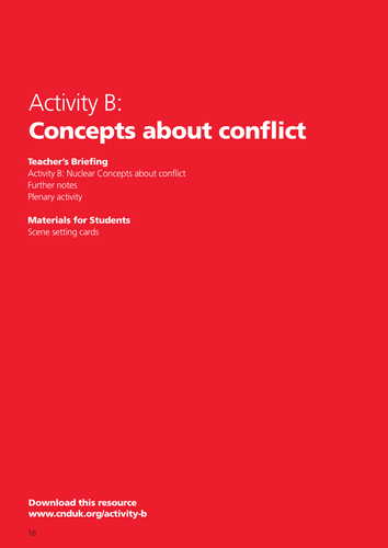Concepts about Conflict: From knife carrying to nuclear deterrence theory