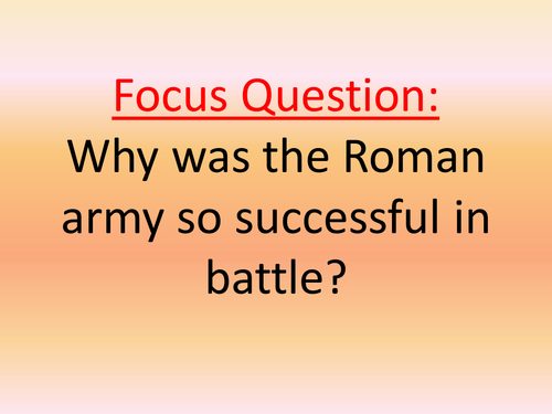 why roman army so successful