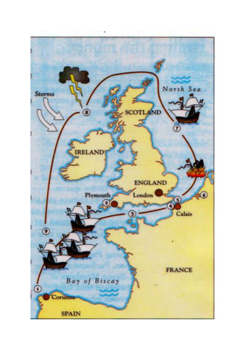 Map Of Spain For Classroom.What Happened To The Spanish Armada By Eskimomelon Teaching Resources