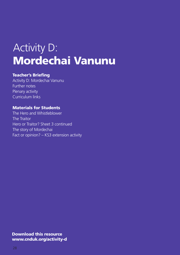 Mordechai Vanunu, Nuclear Whistleblower: Hero or Traitor?