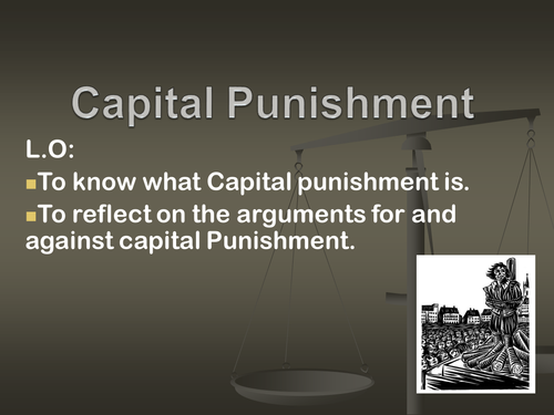 an argument in favor of capital punishment in america