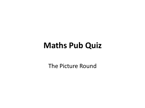 Maths Pub Quizzes - Fun Activity