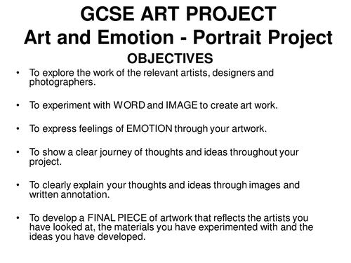 GCSE Art Project Ideas