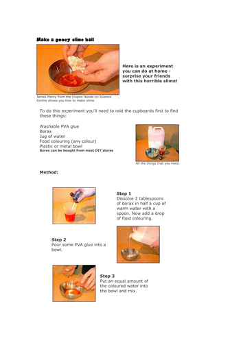Making slime by jacqui1974 teaching resources tes ccuart Gallery