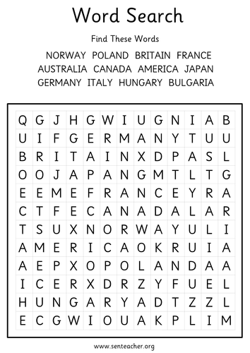 World War 2 grids and word search by languageisheartosay ... - photo#32