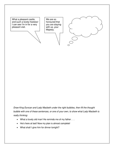 Lady Macbeth - Act 1 Scene 5 by slinds - Teaching Resources - Tes