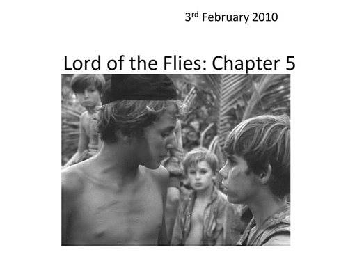 lord of the flies chapter 4 literary devices