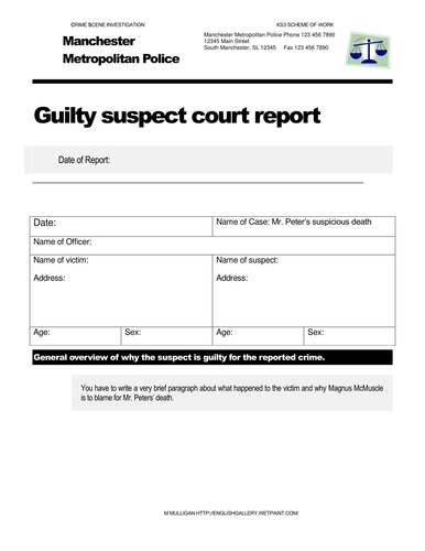 CSI Mr Peters Template for court report (McMuscle)