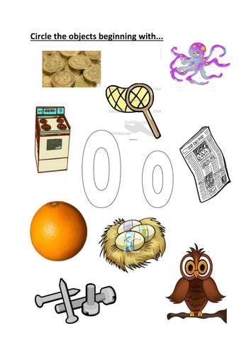 things that start with the letter o circle the objects beginning with o o by kayld teaching 25260 | image?width=500&height=500&version=1328294099000