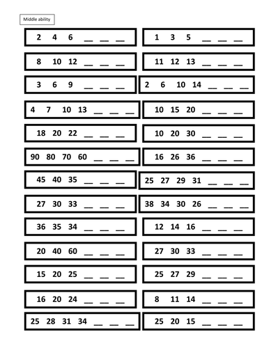 completing number sequences by lydiacook2 teaching resources tes. Black Bedroom Furniture Sets. Home Design Ideas