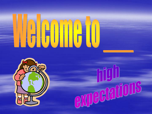 introduction to new class, high expectations
