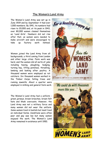 The role of women in WWII