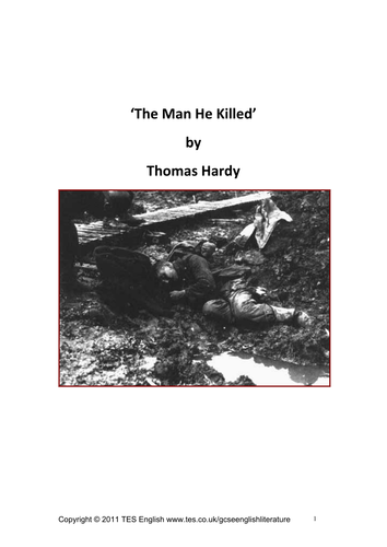 thomas hardy the man he killed meaning