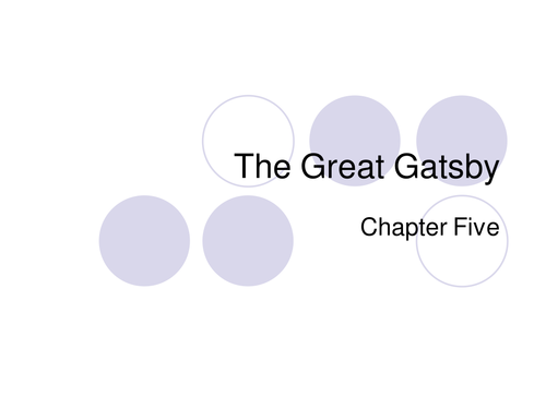 the great gatsby chapter six synopsis