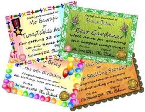 Editable Maths Certificates