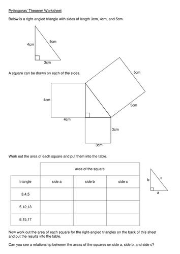 pythagoras 39 theorem worksheet by kmbheck teaching resources tes. Black Bedroom Furniture Sets. Home Design Ideas