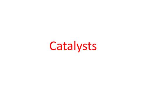BTEC Applied Science: Catalysts