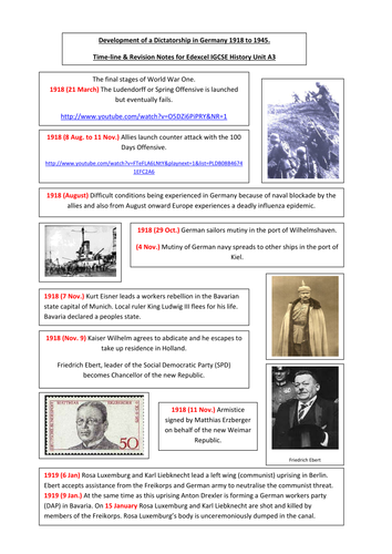 Development of a Dictatorship - Germany 1918 - 45.