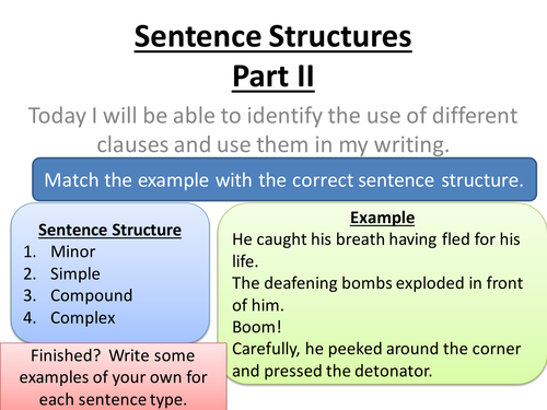 sentence structures punctuation lessons by gerbra teaching
