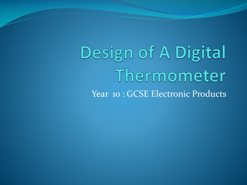 digital thermometer project