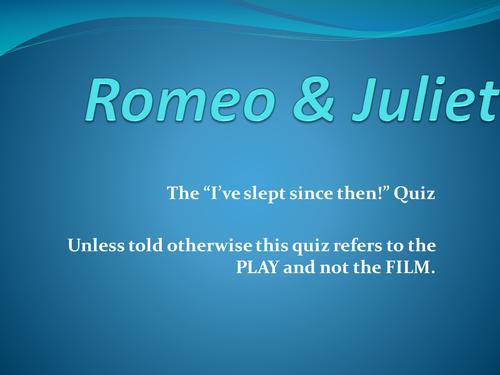 Romeo & Juliet Interactive Powerpoint Quiz