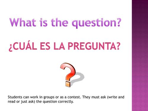 ¿Cuál es la pregunta?