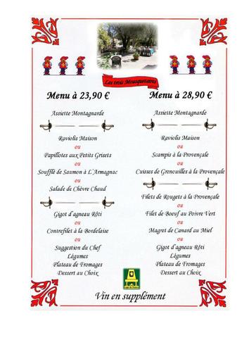 Various restaurant menus