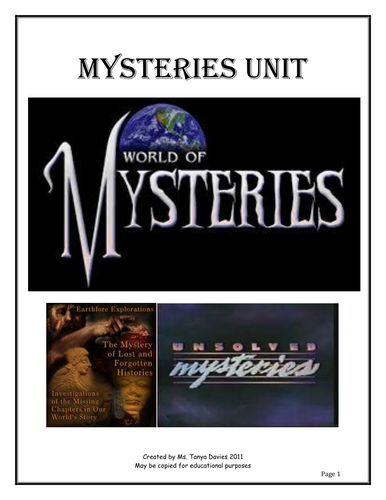 World of Mysteries unit