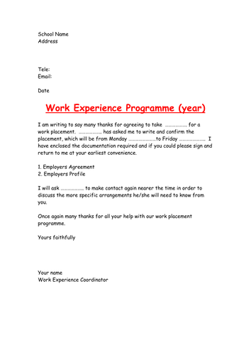 work experience resources by annsp teaching resources tes