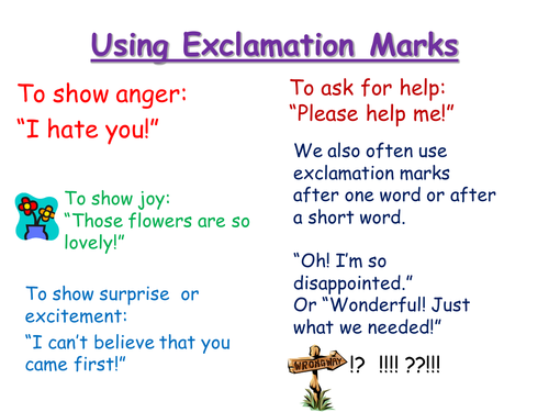 When To Use Exclamation Marks 6112424 on Jobs Flashcards 17