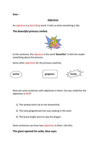 Fairytale Adjectives
