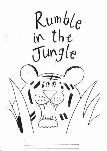 Rumble in the Jungle activity booklet by Johnzland