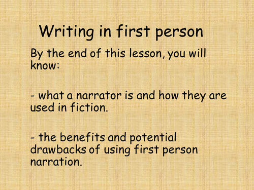 First person narration