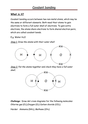 Drawing Covalent Dot And Cross Diagrams Simple By Kates1987