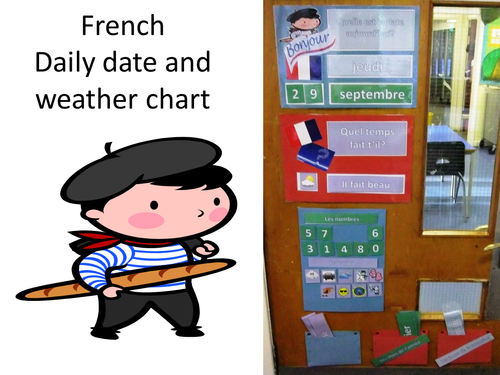 french calendar and weather chart by lauragingell teaching resources. Black Bedroom Furniture Sets. Home Design Ideas